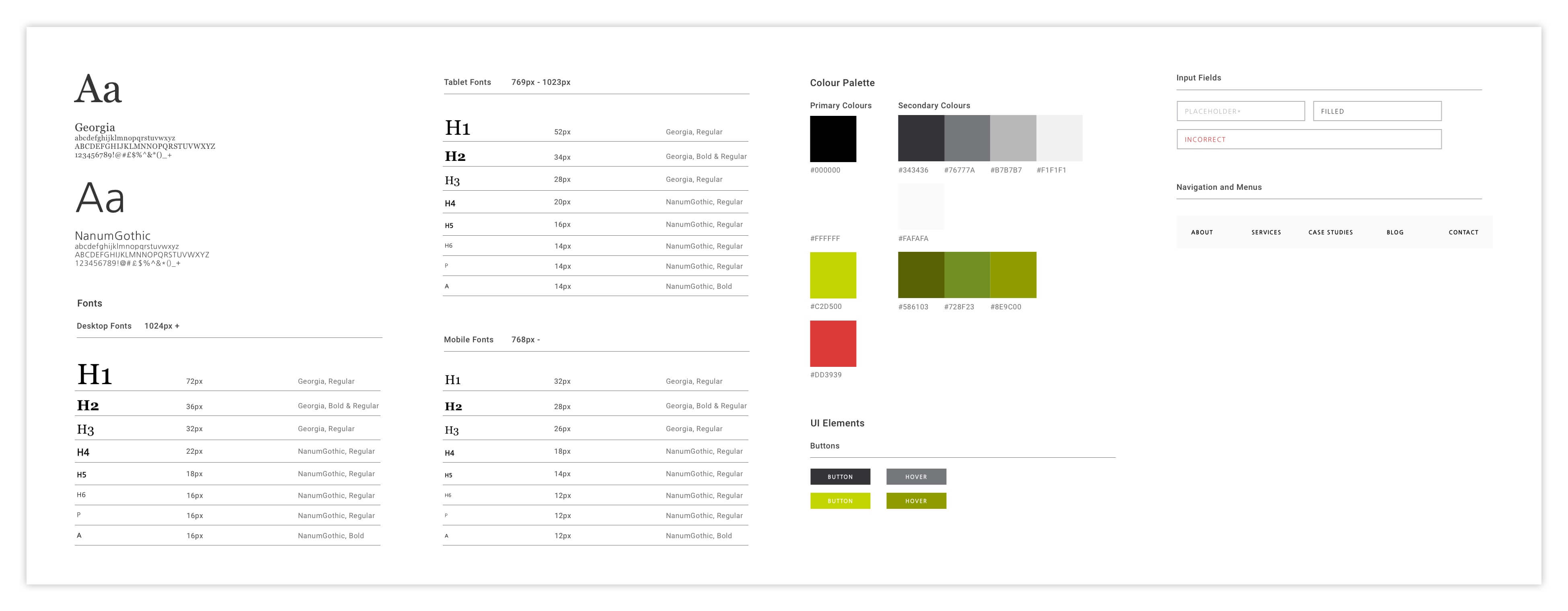 Example Style Guide - 6 Ways Designers Can Help Developers | Appeal Digital